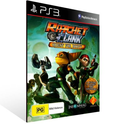 Ratchet Clank Future Quest For Booty - Ps3 Psn Mídia Digital