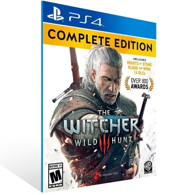 The Witcher 3 Wild Hunt Complete Edition - Ps4 Psn Mídia Digital