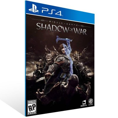 Middle Earth Shadow of War - Ps4 Psn Mídia Digital
