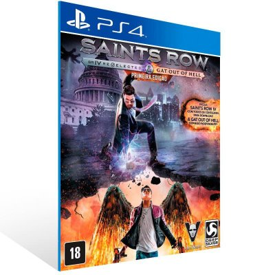 Saints Row Re Elected & Gat Out Of Hell - Ps4 Psn Mídia Digital
