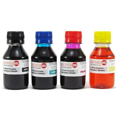 Kit 400ml de Tinta Formulabs Epson Corante UV 100ml de Cada Cor | 4 Cores