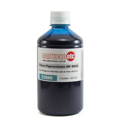 Tinta Inktec Pigmentada HP Serie 8000 H8940-01LC Ciano 500ml
