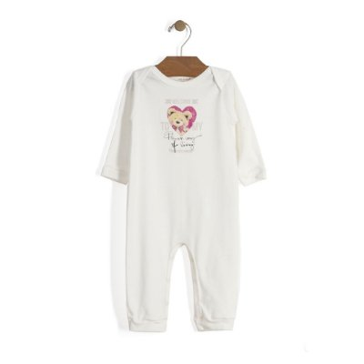 Macacão | Up Baby - Bear Heart Off White