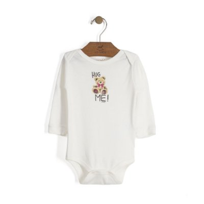 Body Manga Longa | Up Baby - Hug Me Off White