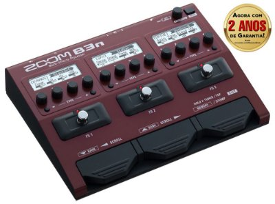 Pedaleira Zoom B3n Multi Effects