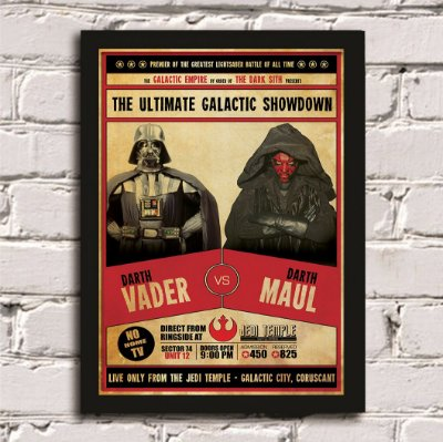 Poster Darth Vader vs Darth Maul
