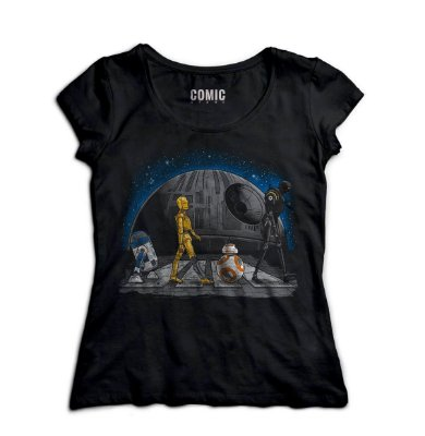 Camiseta Feminina Star Wars - R2-D2 e BB-8