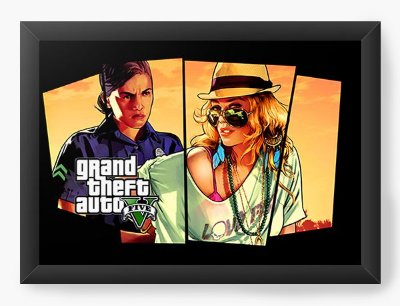 Quadro Decorativo GTA - girls