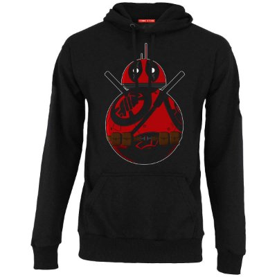 Blusa com Capuz BB-8 Deadpool