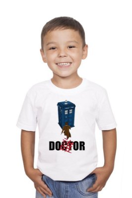 Camiseta Infantil Doctor Who Police Box