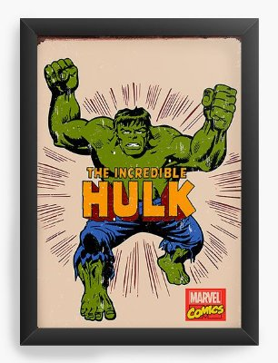 Quadro Decorativo Hulk - The Incredible