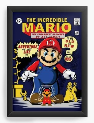 Quadro Decorativo Super Mario - The Incredible