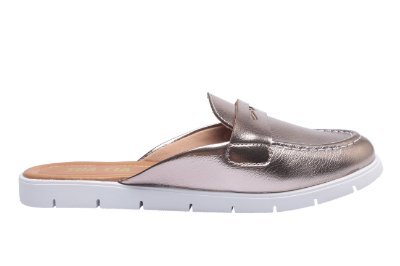 Mule Floater Metal Pewter Sua Cia