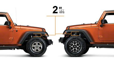 KIT LIFT JEEP WRANGLER JK DE 2""