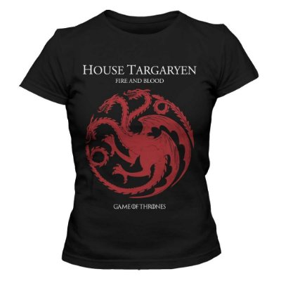 Camiseta Feminina Game of Thrones - House Targaryen