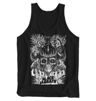Regata Masculina Black Sabbath - Skulls