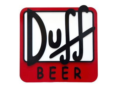 Placa Decorativa Duff Beer
