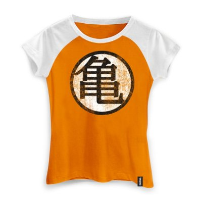 Camiseta Dragon Ball Kame Symbol Feminina