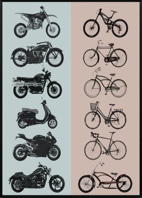 Quadro Moto Vs Bike