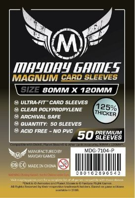 Ultimate Warriorz Magnun Gold Card Sleeve (Pac. Com 100) MAYDAY – 80X100mm