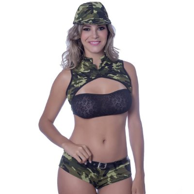 Kit fantasia militar a short Sensual Love