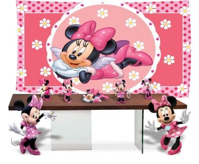 Kit Festa Minnie Mouse Rosa Disney