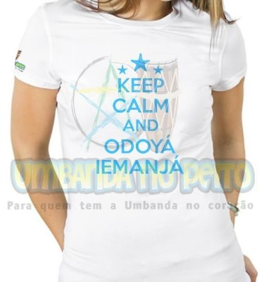 Baby Look Keep Calm and Odoyá Iemanjá