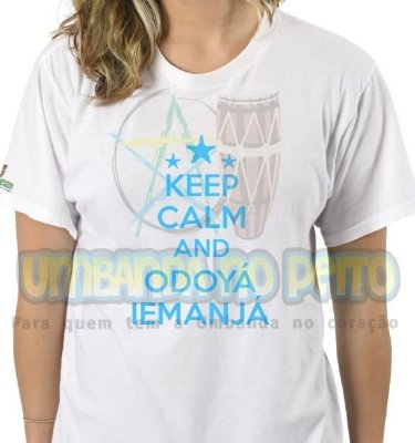Camiseta Keep Calm and Odoyá Iemanjá