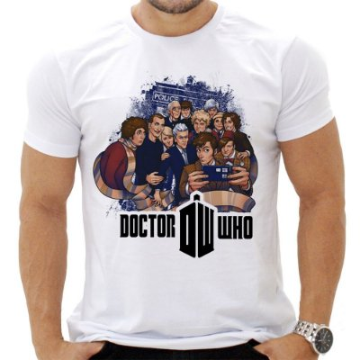 Camiseta Masculina - Doctor Who - Personagens