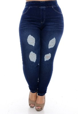 Calça Legging Jeans Plus Size Bryone