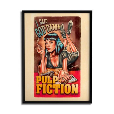 Quadro Decorativo Pulp Fiction By Renato Cunha - Beek