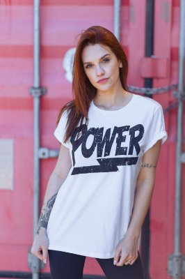 Camiseta Feminina Power Branca