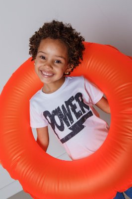 Camiseta Infantil Power Branca