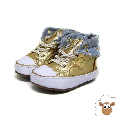 Bota Infantil - Gambo - Ouro e Jeans Destroyed