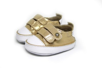 Tênis Infantil Gambo Ouro Velcro