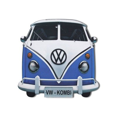 Placa decorativa - Kombi azul