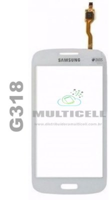 TOUCH SCREEN SAMSUNG G318 GALAXY ACE 4 BRANCO S/ CAMERA FRONTAL 1ªLINHA