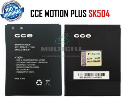 BATERIA CCE SK504 MOTION PLUS 2000mAh TBT9701 ORIGINAL