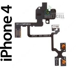 FLEX VOLUME VIBRA CALL E FONE DE OUVIDO APPLE A1332 821-1033-A IPHONE 4 4G ORIGINAL