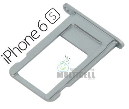 BANDEJA GAVETA TRAY CHIP SIM CARD APPLE A1633 A1688 IPHONE 6S 4.7'' CINZA PRATA ORIGINAL
