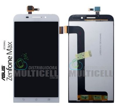 GABINETE FRONTAL DISPLAY LCD TOUCH SCREEN MODULO COMPLETO ASUS ZC550KL ZENFONE MAX BRANCO ORIGINAL