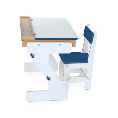 Mesa versatil Azul  - MDF - 4 pc - Cx. papelao