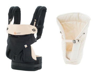 Combo Canguru Ergobaby 360 Black Camel + Infant Insert Natural
