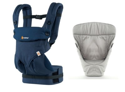 Canguru - BabyCarrier Ergobaby - Coleção 360 - Midnight Blue + Infant Insert Snug Grey