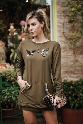 Vestido Militar Patches