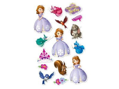 Mini Personagens Decorativos Princesinha Sofia