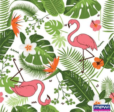 TNT Estampado Flamingo - 5 metros