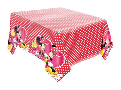Toalha de Mesa de Papel - Minnie Red