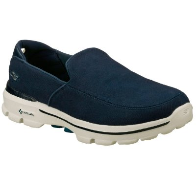 MENS SKECHERS GO WALK 3 - ATTAIN 53982 - NAVY