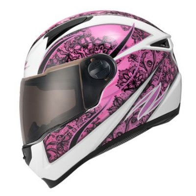 Capacete Zeus 811 SOLID WHITE AL9 PURPLE